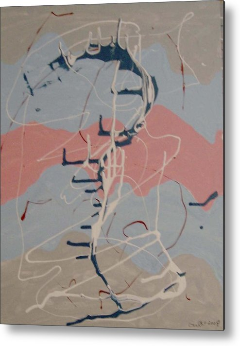 Delicate Colours Metal Print featuring the painting Musical Colours by Harris Gulko