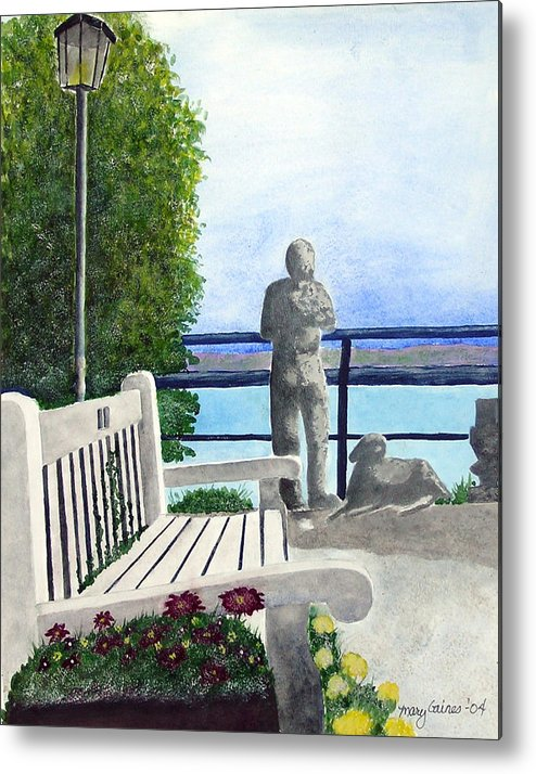 Langley Washington Metal Print featuring the painting Peaceful Langley by Mary Gaines