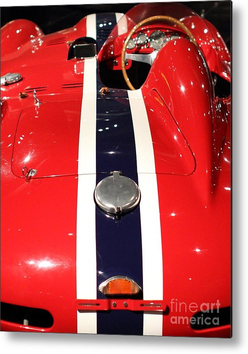 Ferrari Metal Print featuring the photograph Racing Stripes by Wingsdomain Art and Photography