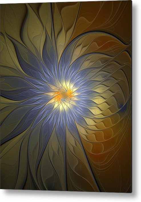 Digital Art Metal Print featuring the digital art Something Blue by Amanda Moore