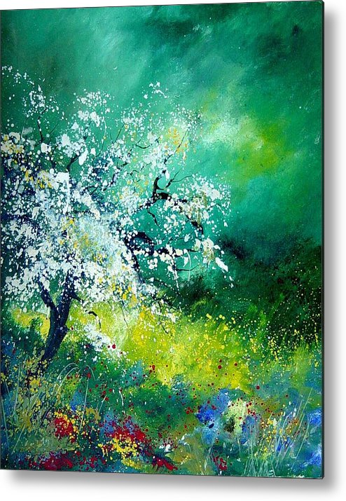 Flowers Metal Print featuring the painting Spring by Pol Ledent