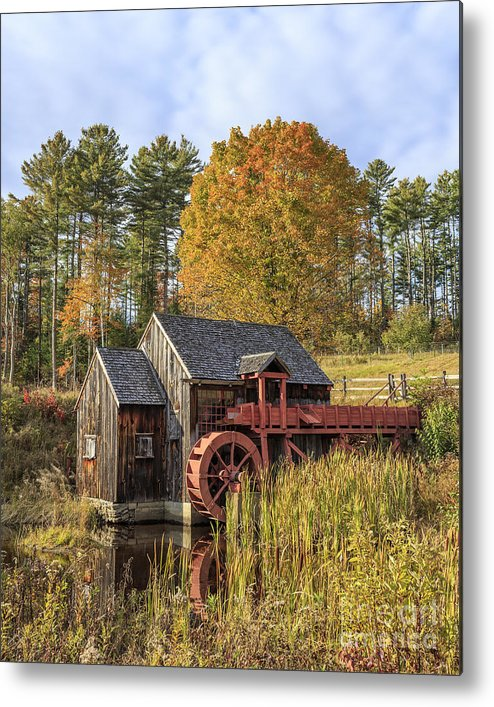 Vermont Metal Print featuring the photograph Vermont Grist Mill by Edward Fielding