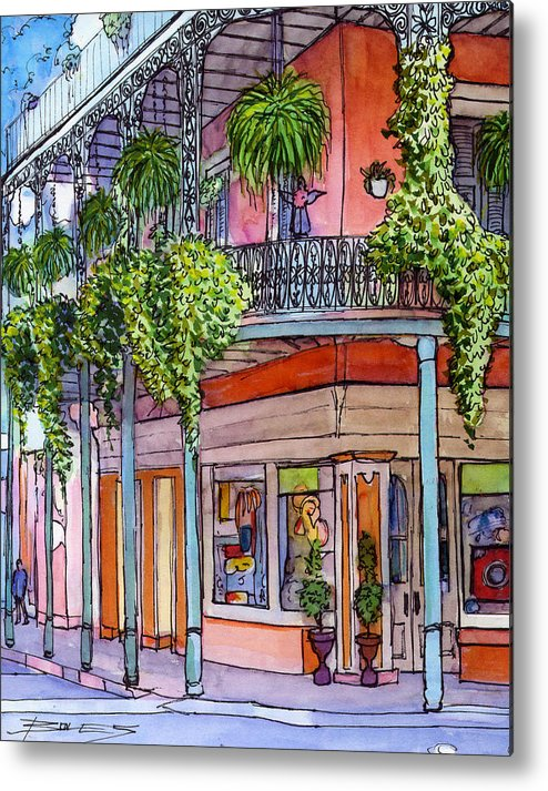 New Orleans Metal Print featuring the painting 18 French Quarter Art Gallery by John Boles