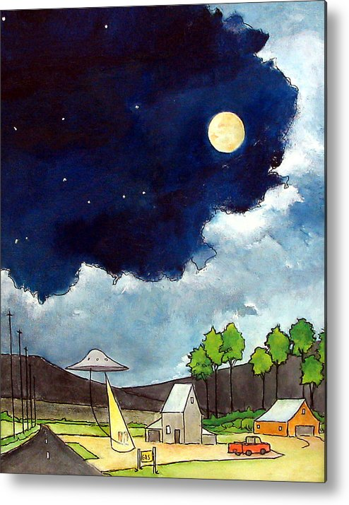 Ufo's Metal Print featuring the painting Gas Stop by James Smith
