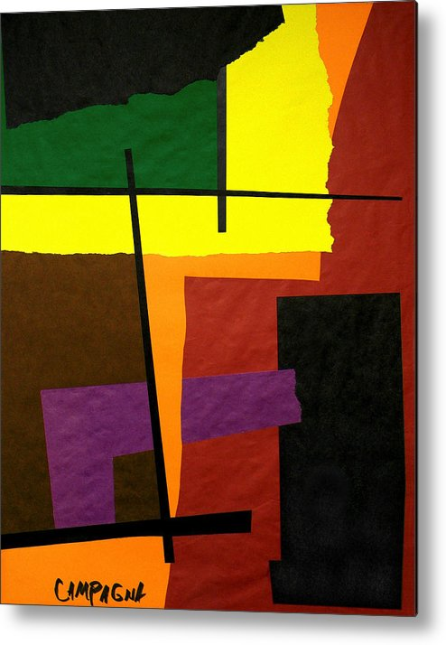 Cut Paper Metal Print featuring the tapestry - textile Untitled by Teddy Campagna