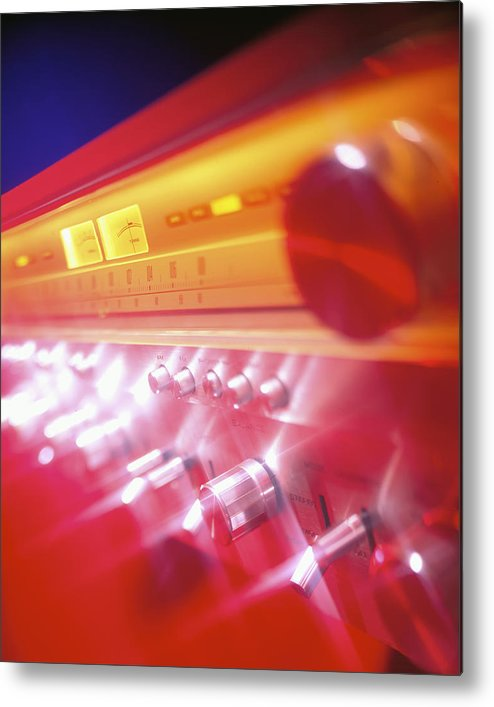 Amp Metal Print featuring the photograph 60s Amp by Robert Ponzoni