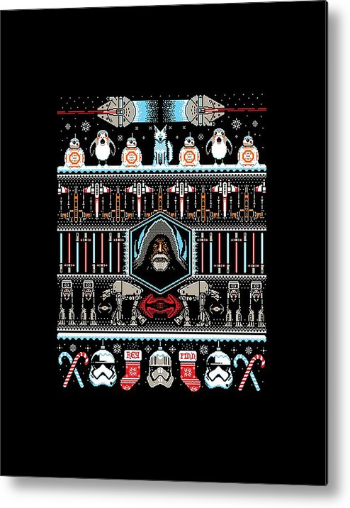 8 Bit Pixel Art Star Wars Metal Print