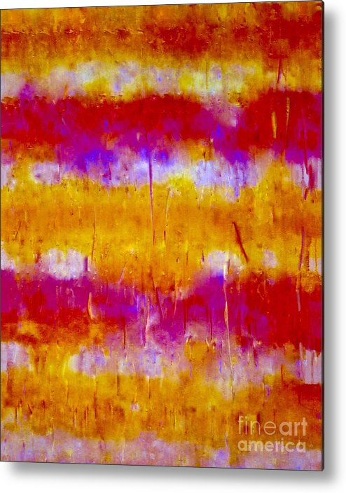 Abstract-painting-mixed-media Metal Print featuring the painting A Material Girl 1 Series  by Catalina Walker