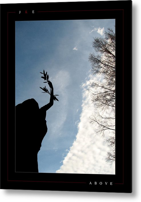 Angel Metal Print featuring the photograph Above by Jonathan Ellis Keys