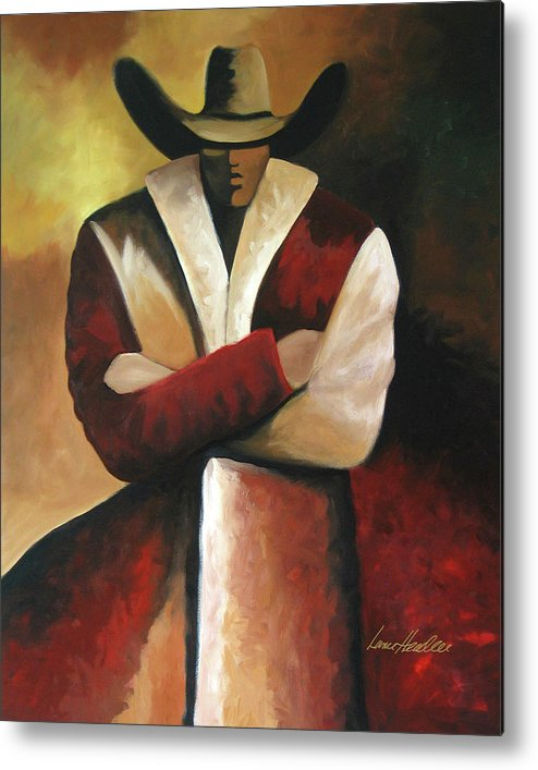 Metal Print featuring the painting Abstract Cowboy by Lance Headlee