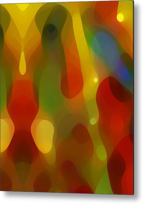 Abstract Art Metal Print featuring the painting Abstract Flowing Light by Amy Vangsgard