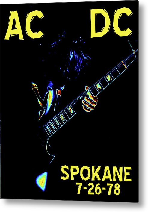 Ac Dc Metal Print featuring the photograph Ac Dc Rocks 2 by Ben Upham