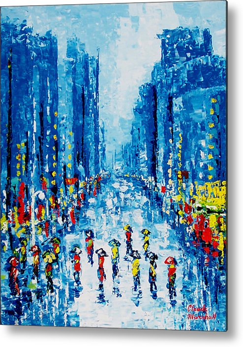 Abstract Metal Print featuring the painting Across Town by Claude Marshall