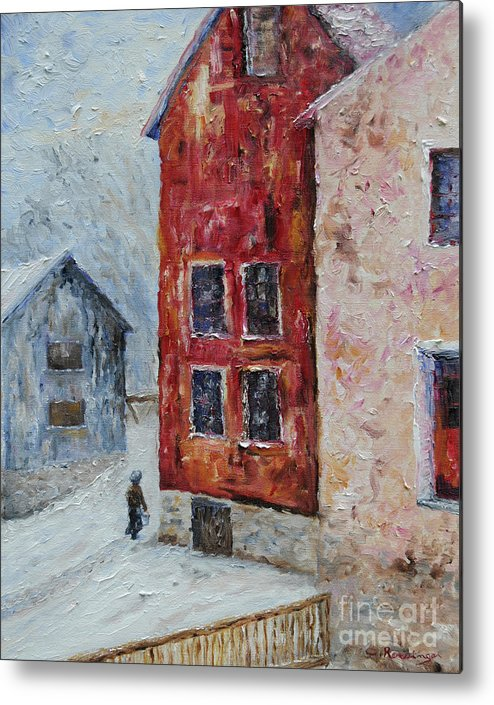 Oil Metal Print featuring the painting After The Storm by Cindy Roesinger