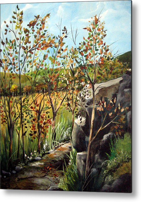 Metal Print featuring the painting Afternoon Stroll by Ruth Palmer