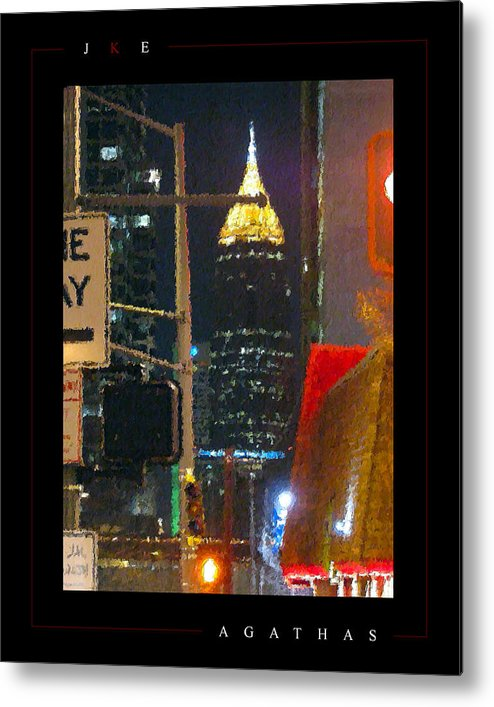 Atlanta Metal Print featuring the photograph Agathas by Jonathan Ellis Keys