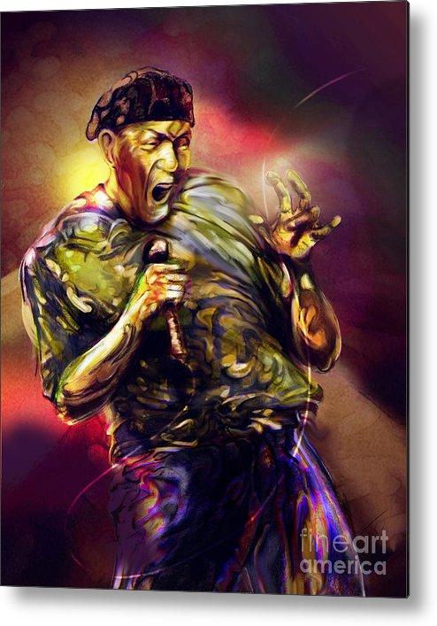 Jazz Art Metal Print featuring the painting Al Jarreau by Mike Massengale
