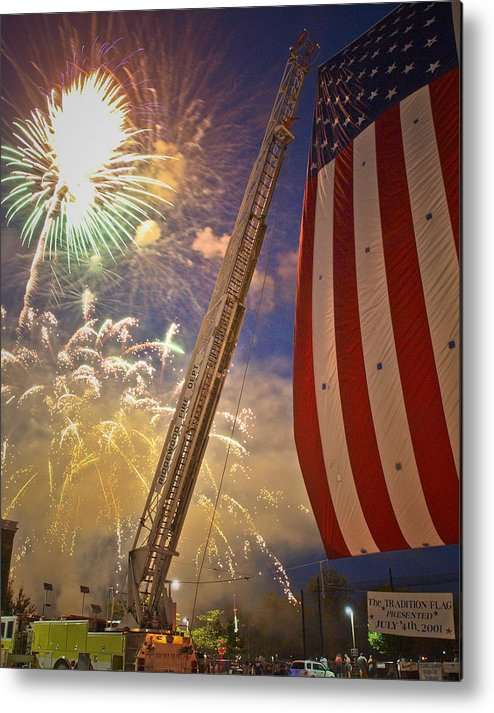 4th Metal Print featuring the photograph America The Beautiful by Jim DeLillo
