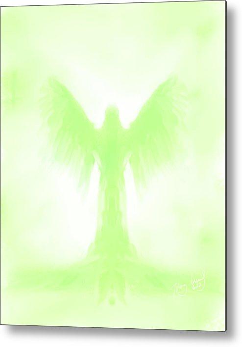 Angel Metal Print featuring the digital art Angel 622 by Mark Haglund