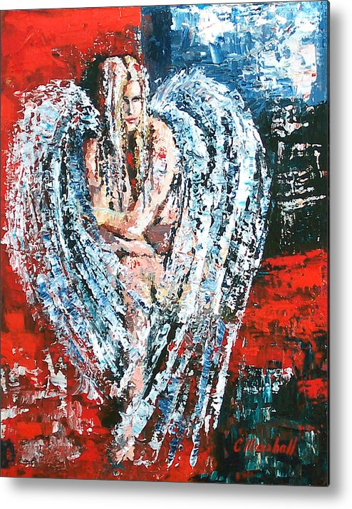 Art Metal Print featuring the painting Angel In The Light by Claude Marshall