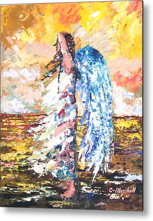 Art Metal Print featuring the painting Angel In The Wind by Claude Marshall