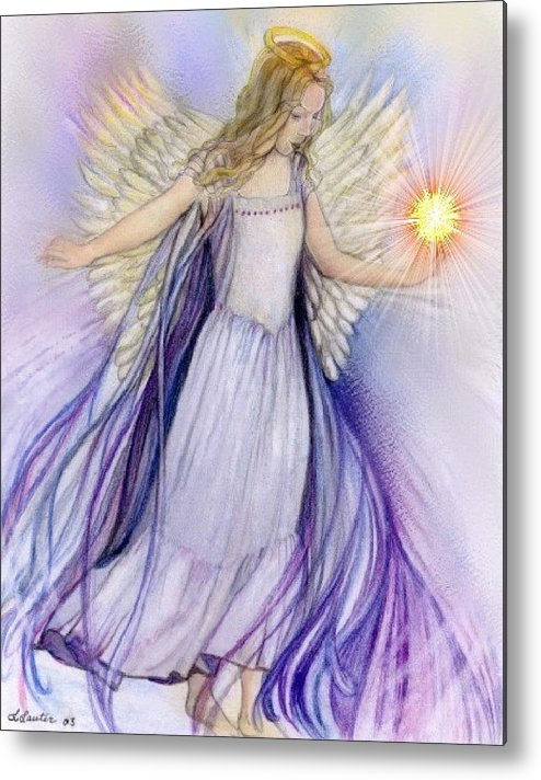 Angel Metal Print featuring the pastel Angel by L Lauter