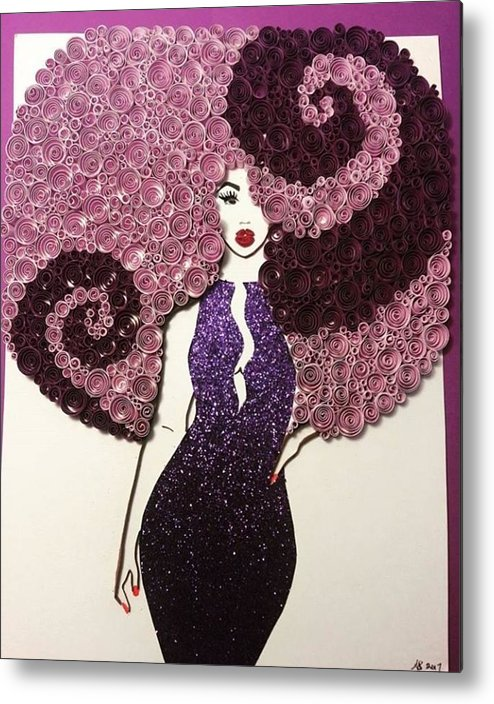 Metal Print featuring the mixed media Angelina by Quillqueen Andrea Stevens