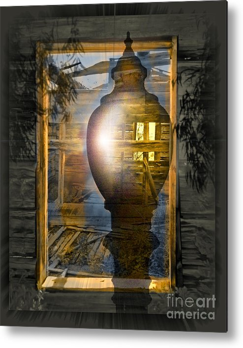 Ghost Metal Print featuring the digital art Apparition by Chuck Brittenham