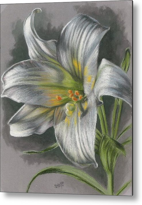 Easter Lily Metal Print featuring the mixed media Arise by Barbara Keith