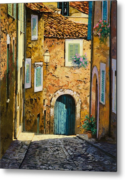 Landscape Metal Print featuring the painting Arta-mallorca by Guido Borelli