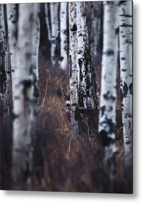 Deer Metal Print featuring the digital art Aspen View 2 by Ernie Echols