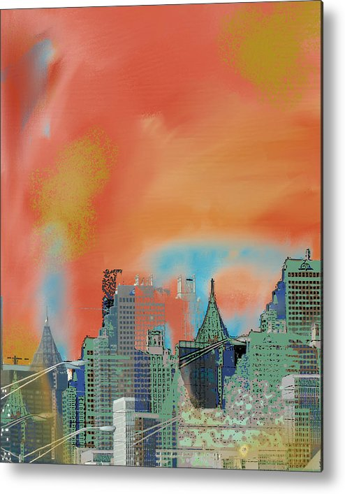 Atlanta Metal Print featuring the mixed media Atlanta Abstract After The Tornado by Ann Tracy