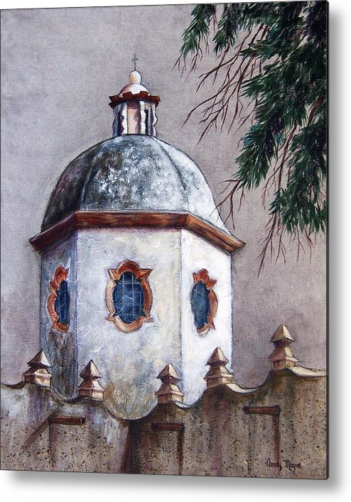 Landscape Metal Print featuring the painting Atotonilco by Candy Mayer