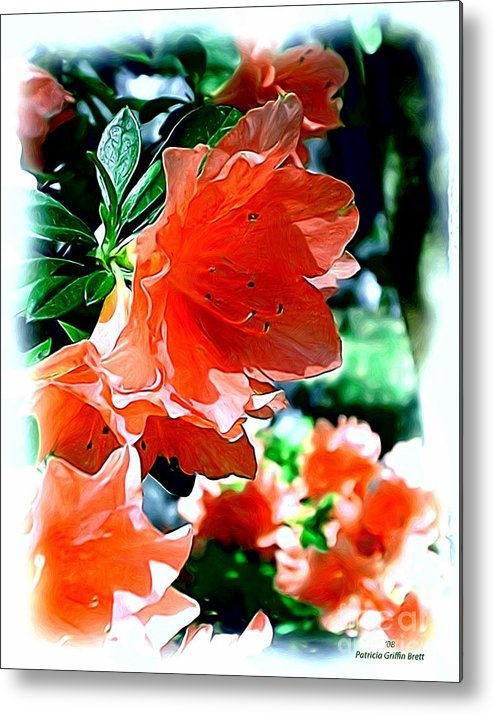 Fine Art Metal Print featuring the painting Azaleas In The Spring by Patricia Griffin Brett