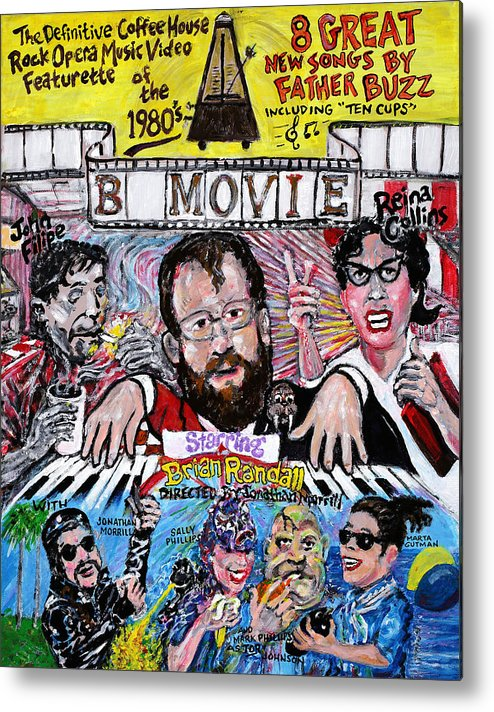 Bmovie Metal Print featuring the painting B Movie by Jonathan Morrill