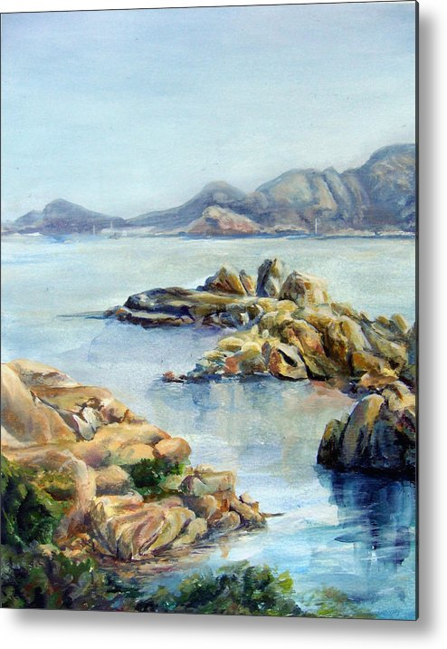 Landscape Metal Print featuring the painting Baie by Muriel Dolemieux