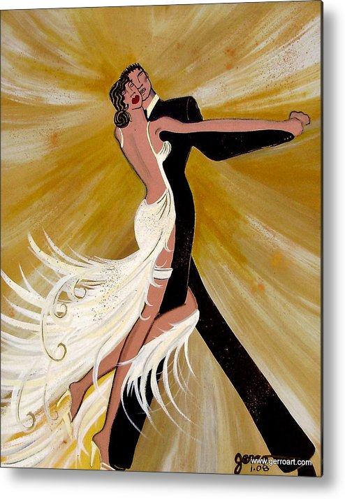 Dancers Artwork Metal Print featuring the painting Ballroom Dance by Helen Gerro