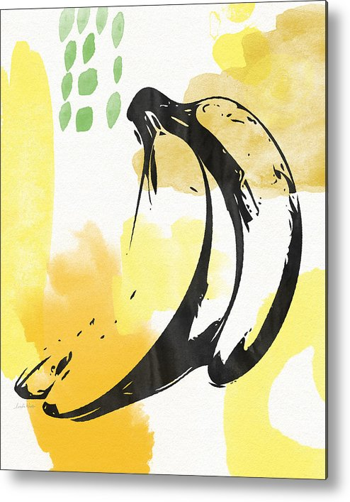 Bananas Metal Print featuring the painting Bananas- Art By Linda Woods by Linda Woods