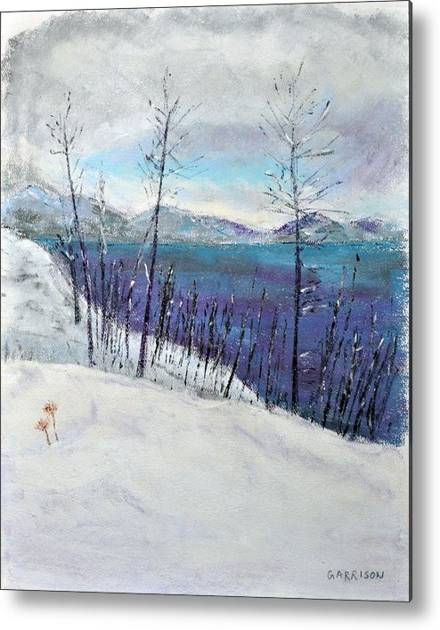 Landscapes Metal Print featuring the painting Bare by Marina Garrison