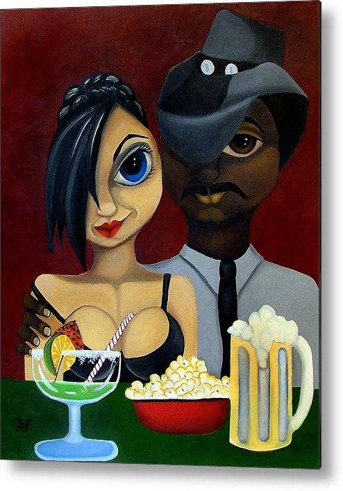Sweethearts Metal Print featuring the painting Be My Valentine by Elizabeth Lisy Figueroa