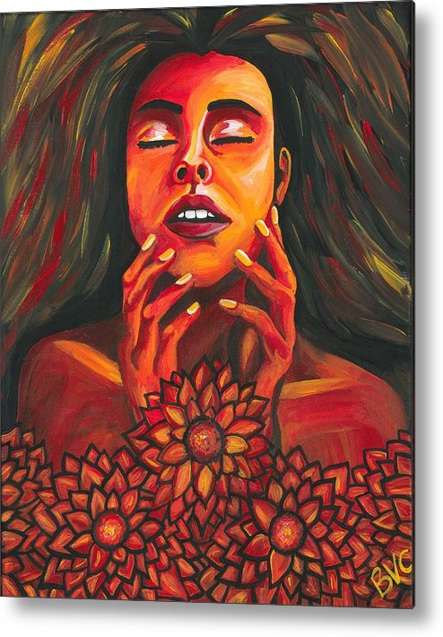 Woman Metal Print featuring the painting Beautiful Demon by Becca VanCompernolle