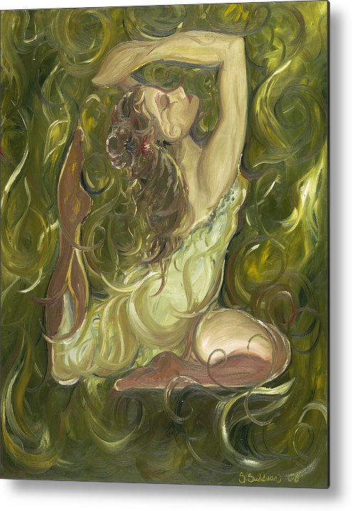Beauty Metal Print featuring the painting Beauty Has Surfaced by Stephanie Broker