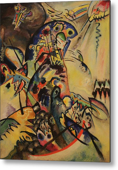 Wassily Kandinsky Metal Print featuring the painting Blue Crest by Wassily Kandinsky