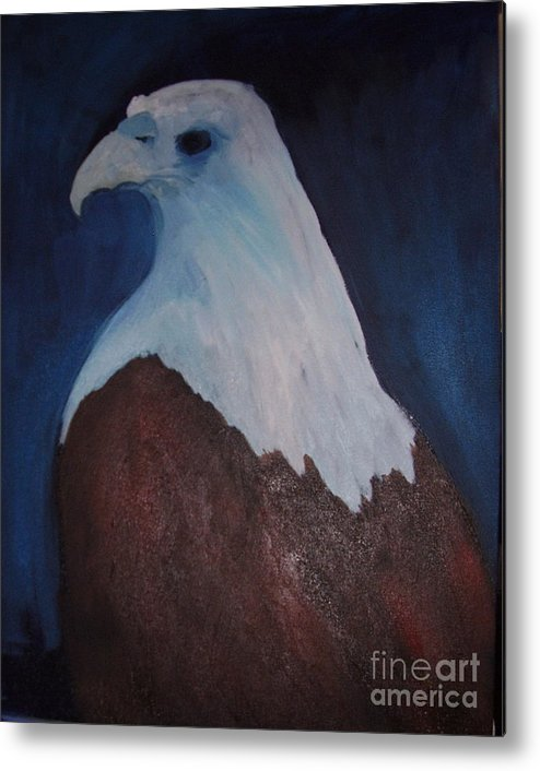 Eagle Metal Print featuring the painting Blue Eagle by Norah Joy Clydesdale