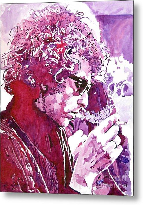 Bob Dylan Metal Print featuring the painting Bob Dylan by David Lloyd Glover