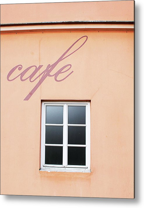 Cafe Metal Print featuring the photograph Bohemian Cafe- By Linda Woods by Linda Woods