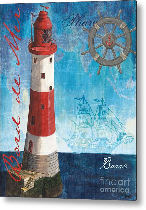 Coastal Metal Print featuring the painting Bord De Mer by Debbie DeWitt
