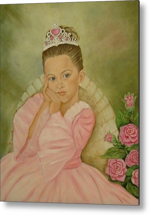 Princess Metal Print featuring the painting Brianna - The Princess by Tresa Crain