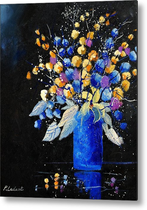 Flowers Metal Print featuring the painting Bunch 451008 by Pol Ledent