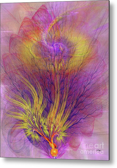 Burning Bush Metal Print featuring the digital art Burning Bush by John Beck